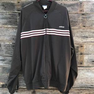 Adidas Zip Up Track Jacket Trefoil Mens Brown 2XL